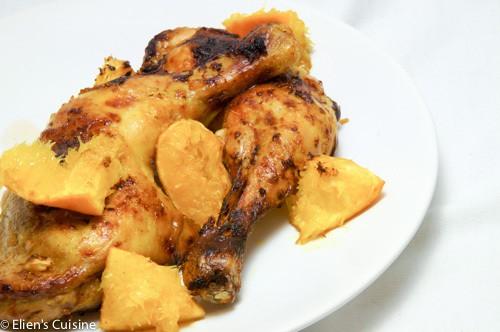 Gemarineerde kippenbouten met sinaasappel