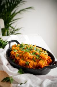 Ovenschotel met zoete aardappel en gehakt