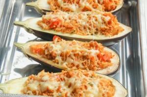 aubergine met gehakt en rijst-2