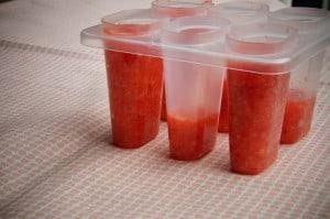 Healthy aardbeienijsjes