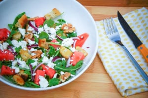 Panzanella met watermeloen