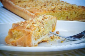 frangipane pistache taart
