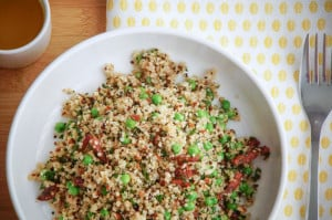 quinoa met erwtjes en bacon honing-citroen dressing-3