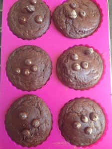 Chocolade-courgette cakejes