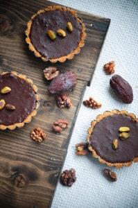 chocolade-dadel taartjes-
