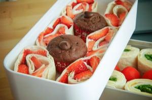 lunchbox wraps en cakeje