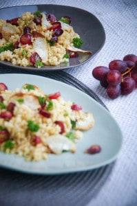 bulgur met rammenas en druiven