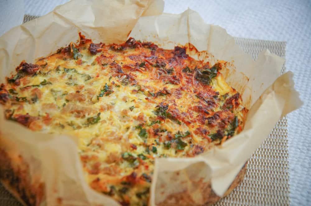 hartige taart met aardappel koolrabi kale gehakt
