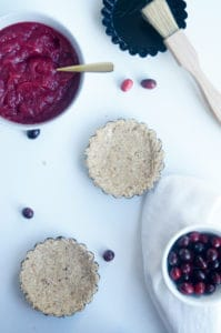 Kerst taartje cranberry curd re-1