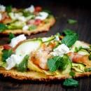 bloemkoolpizza met courgette en pancetta