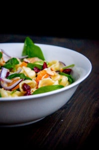 salade met mandarijntjes en terriyaki