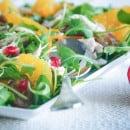 salade met restjes kip sinaasappel dadels-1