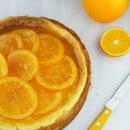 Kaastaart met gekarameliseerde sinaasappel