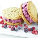 Berry icecream oatmeal cookie sandwich