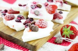 Frozen yoghurt bites