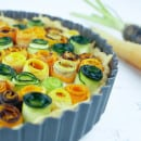Ricotta taart met courgette wortel roosjes