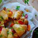 Tacorolletjes met gehakt en guacamole