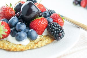 Havermout ontbijtpizza-