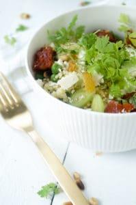 Couscous chorizo erwtjes rozijnen-1