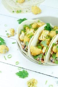 Taco met geroosterde bloemkool