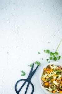 Bulgur met geroosterde zoete aardappel en bloemkool-2