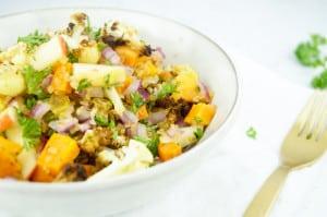 Bulgur met geroosterde zoete aardappel en bloemkool-1
