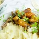Knolselderpuree met geroosterde groenten-1