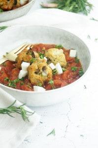 Polpette van aubergine met tomatensaus-1