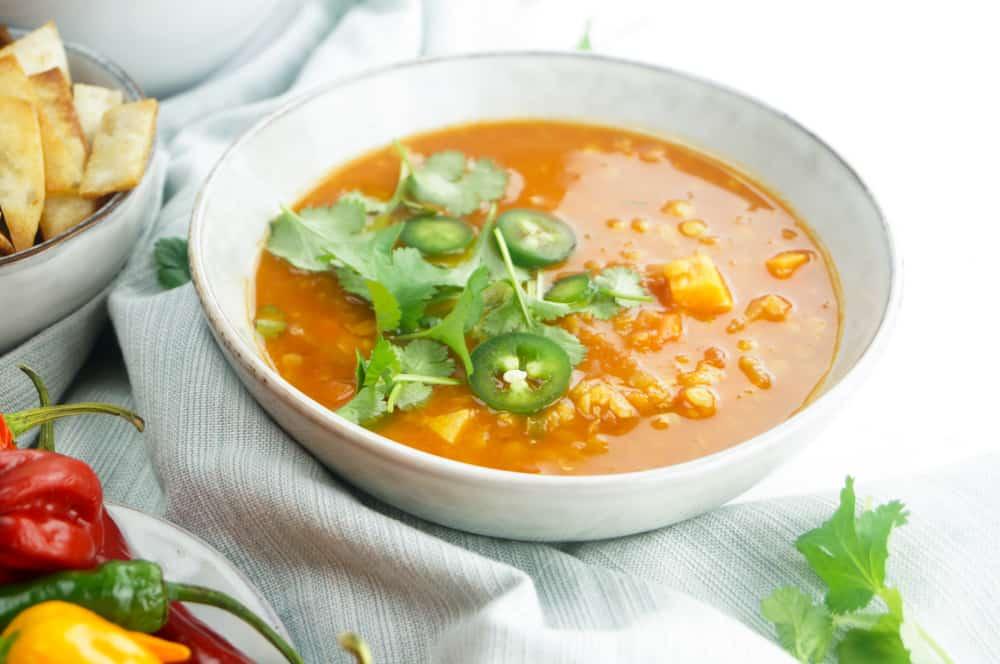 Smoky soep linzen zoete aardappel-4