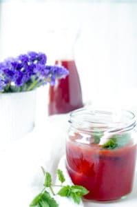 Aardbeien limonade