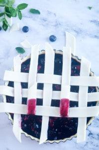 Blauwe bessen taart-10