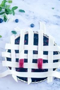 Blauwe bessen taart-11