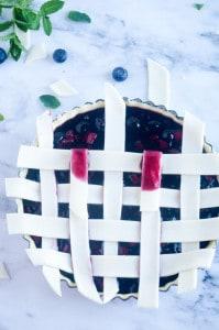 Blauwe bessen taart-12
