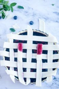 Blauwe bessen taart-13