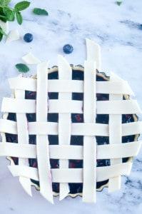 Blauwe bessen taart-14