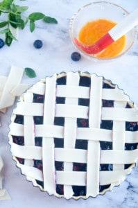 Blauwe bessen taart-15
