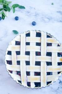 Blauwe bessen taart-16