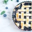 Blauwe bessen taart-18