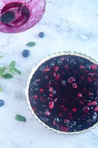 Blauwe bessen taart-2