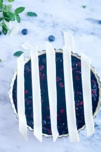 Blauwe bessen taart-3