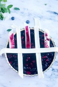 Blauwe bessen taart-4
