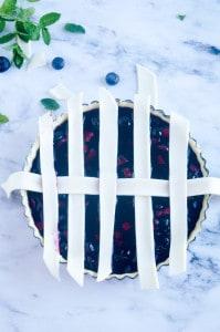 Blauwe bessen taart-5
