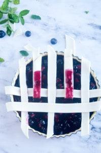 Blauwe bessen taart-6