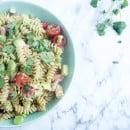Pastasalde met avocado tomaat spek-1