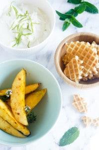 Sweet chili mango yoghurt vanille wafel crumble-1
