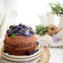 Chocoladecake met chocolade-mascarponecrème