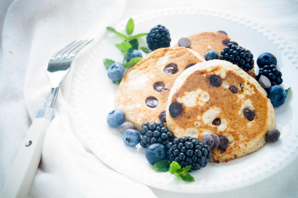 Banaan Chocolate Chip Pancakes