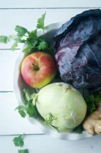 salade rodekool koolrabi appel-3