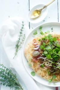 Naanpizza druiven prosciutto honing-1