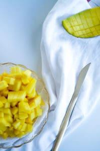 Charlottetaart met mango